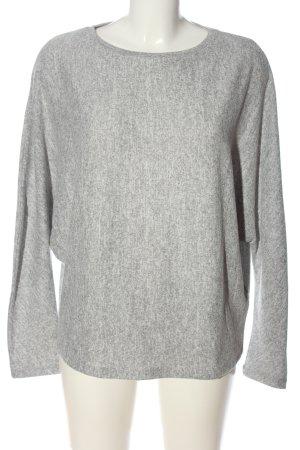 Opus Sweter z dzianiny jasnoszary Melanżowy W stylu casual