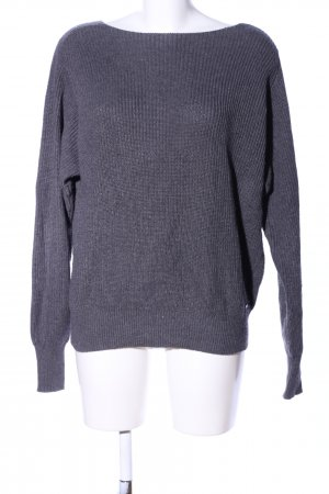 Opus Strickpullover hellgrau Zopfmuster Casual-Look
