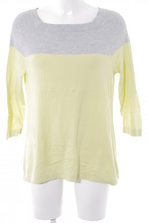 Opus Knitted Sweater meadow green-light grey casual look