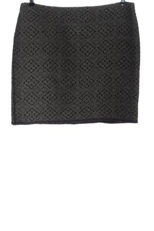 Opus Spódnica z dzianiny czarny-jasnoszary Na całej powierzchni W stylu casual