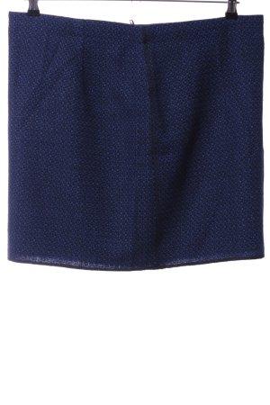 Opus Gebreide rok blauw abstract patroon zakelijke stijl