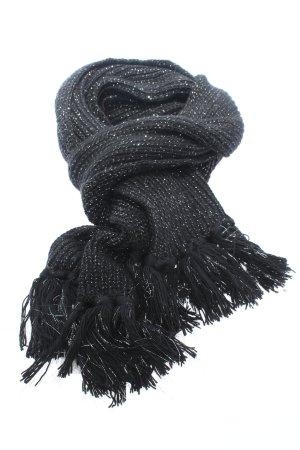 Opus Bufanda de punto negro look casual