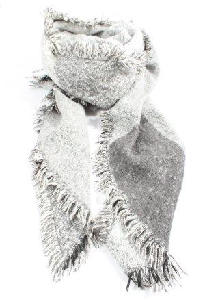 Opus Gebreide sjaal lichtgrijs casual uitstraling