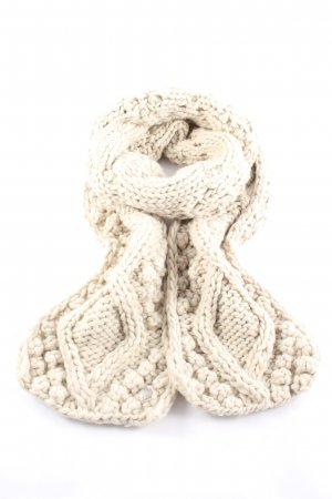 Opus Knitted Scarf cream cable stitch casual look