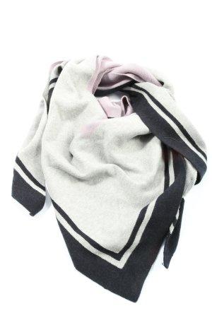 Opus Bufanda de punto gris claro-negro moteado look casual