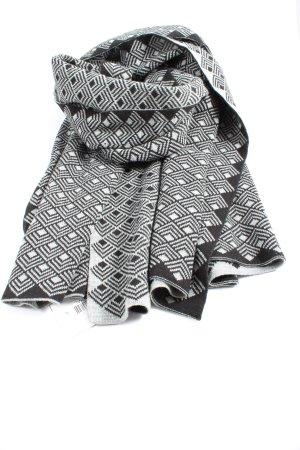Opus Strickschal schwarz-weiß Allover-Druck Casual-Look