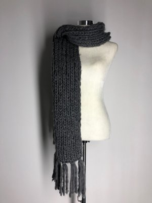 Opus Knitted Scarf dark grey