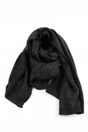 Opus Knitted Scarf black casual look