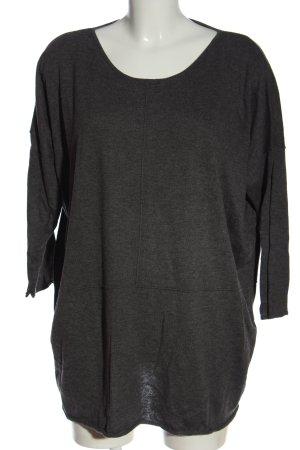 Opus Camicia maglia grigio chiaro puntinato stile casual