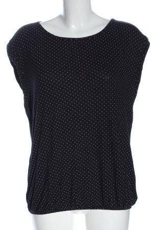 Opus Camicia maglia nero-bianco motivo a pallini stile casual