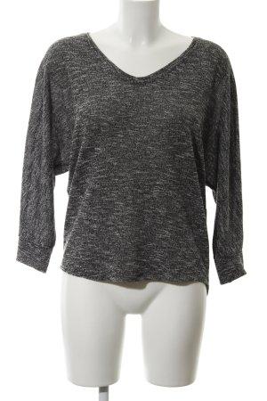 Opus Strickshirt schwarz-weiß meliert Casual-Look