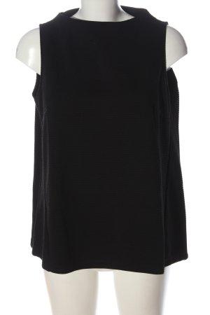 Opus Top lavorato a maglia nero stile casual