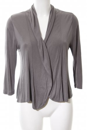 Opus Knitted Wrap Cardigan light grey casual look