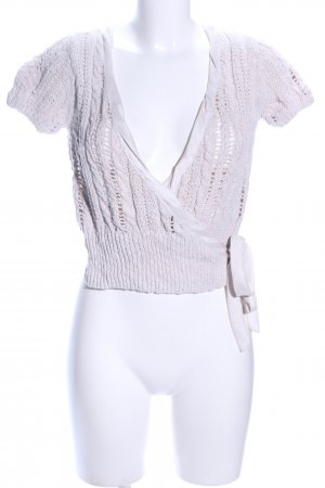 Opus Knitted Wrap Cardigan natural white cable stitch casual look