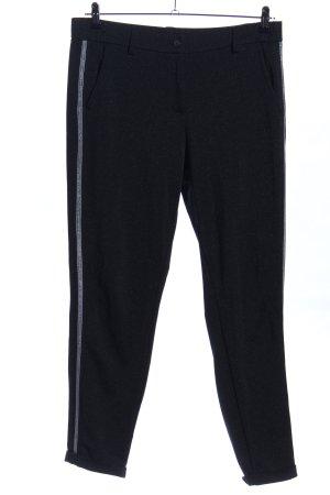 Opus Joggingbroek zwart gestippeld casual uitstraling