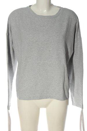 Opus Sweatshirt hellgrau meliert Casual-Look
