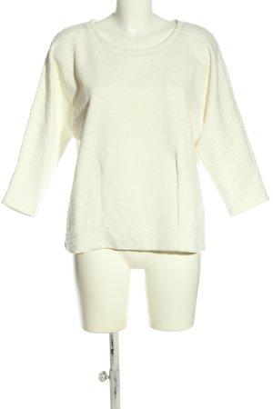 Opus Sweatshirt weiß Webmuster Casual-Look