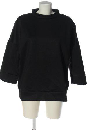 Opus Sweatshirt noir style décontracté