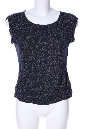 Opus T-Shirt schwarz-weiß Allover-Druck Casual-Look