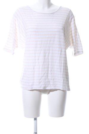 Opus T-Shirt weiß-wollweiß Streifenmuster Casual-Look