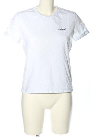 Opus T-Shirt weiß Schriftzug gestickt Casual-Look