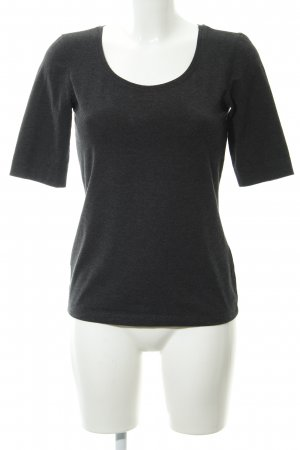 Opus T-Shirt anthrazit meliert Casual-Look
