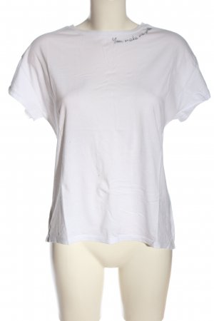 Opus T-Shirt white embroidered lettering casual look
