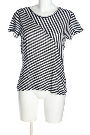 Opus T-Shirt weiß-schwarz Streifenmuster Casual-Look