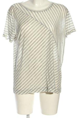 Opus T-Shirt hellgrau Streifenmuster Casual-Look