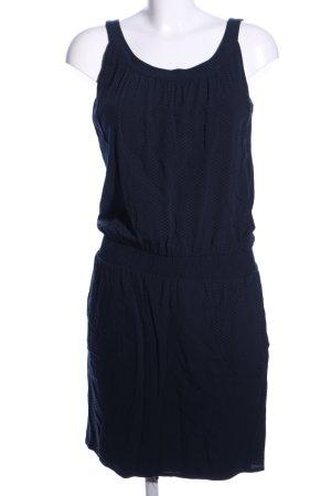 Opus Trägerkleid blau Allover-Druck Casual-Look