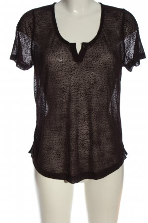 Opus Transparenz-Bluse lila abstraktes Muster Casual-Look