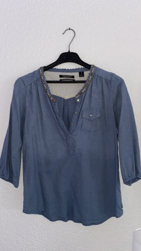 Maison Scotch Tunic Blouse cornflower blue