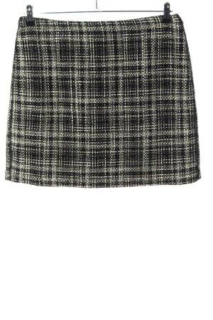 Opus Tweed Skirt black-white allover print business style
