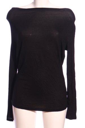 Opus U-Boot-Shirt schwarz Casual-Look