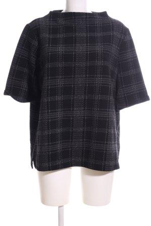 Opus U-Boot-Shirt schwarz-hellgrau Allover-Druck Casual-Look