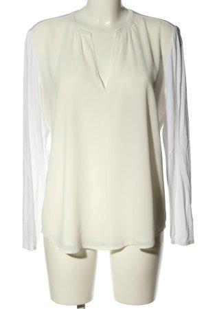 Opus V-Ausschnitt-Shirt weiß Casual-Look