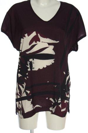 Opus V-Neck Shirt abstract pattern elegant