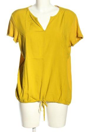Opus V-Ausschnitt-Shirt blassgelb Business-Look