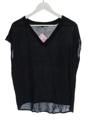 Opus V-Ausschnitt-Shirt schwarz Casual-Look