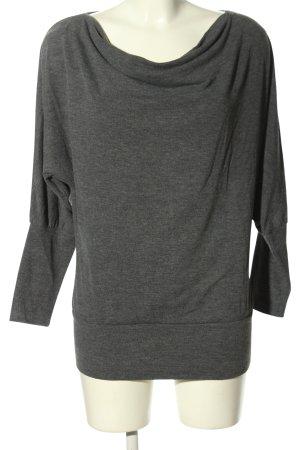 Opus Waterval shirt lichtgrijs gestippeld casual uitstraling