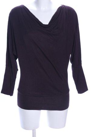 Opus Camisa con cuello caído lila look casual