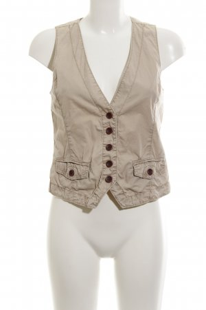 Opus Reversible Vest beige casual look