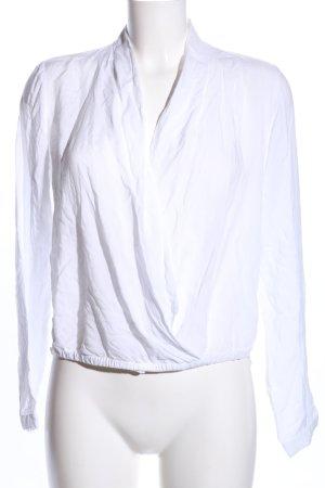 Opus Wikkelblouse wit zakelijke stijl
