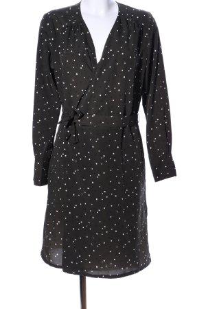 Opus Wikkeljurk zwart-wit gestippeld patroon elegant