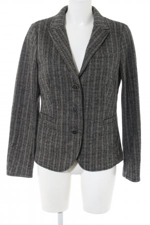 Opus Woll-Blazer hellgrau-schwarz Streifenmuster Street-Fashion-Look