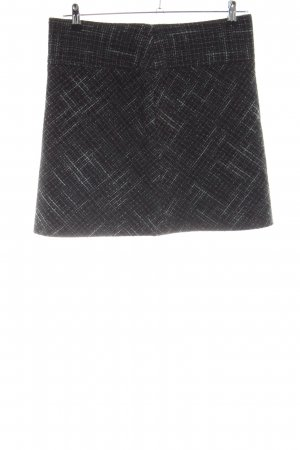 Opus Wool Skirt black allover print business style