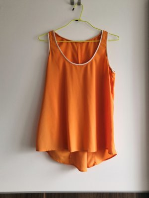 Orange ärmelloses Blusentop