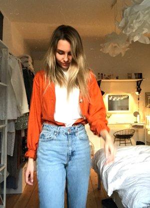 Orange Bluse Cardigan mit Taillierung