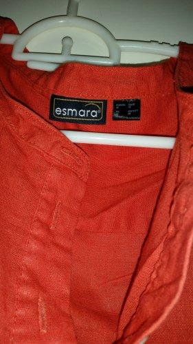 Orange Bluse langarmig