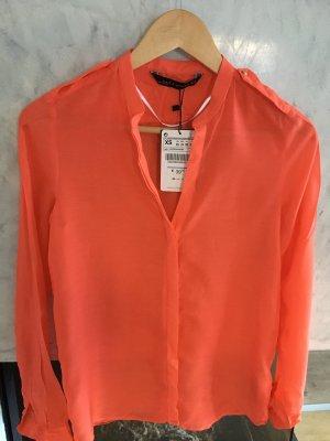 Orange Bluse von Zara Woman